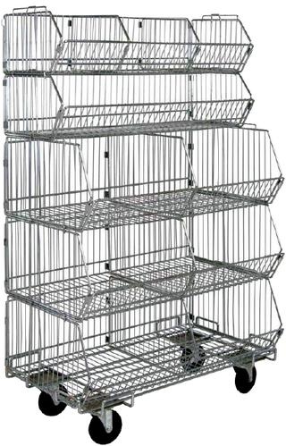 Chrome Wire Stacking Baskets Option Image