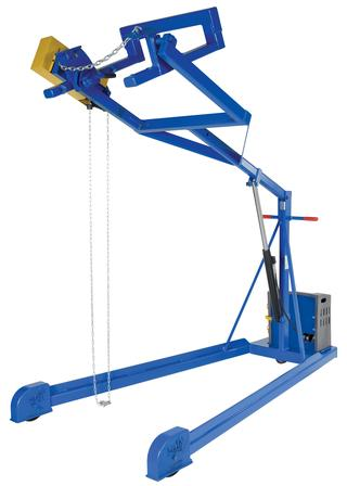 Portable Hydraulic Drum Carrier Rotator Boom Option Image