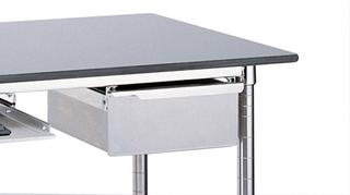 Lab Tables with Stainless Backsplash Top and Solid HD Shelf Option Image