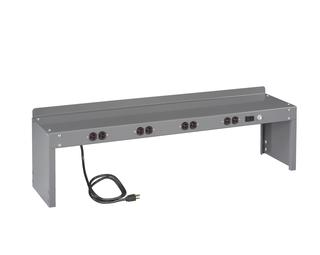 Mobile Workbench with Cabinet and Two 4-Drawer Pedestals Option Image
