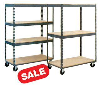 Stromberg Boltless Mobile Shelf Carts - 4 Shelf Option Image