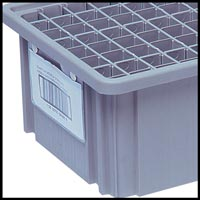 Bin Cart with Clear-View Dividable Grid Containers Option Image