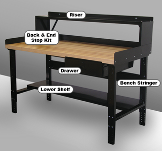 Adjustable Leg Workbench with 12 Gauge Steel Top Option Image