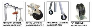 Adjustable Height Aluminum Gantry Cranes with Pneumatic Casters Option Image