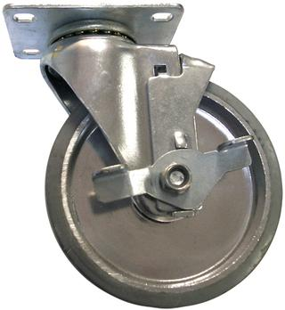 20 Series Gray Rubber Tread Plastic Light-Medium Duty Casters - 5 Inch Option Image